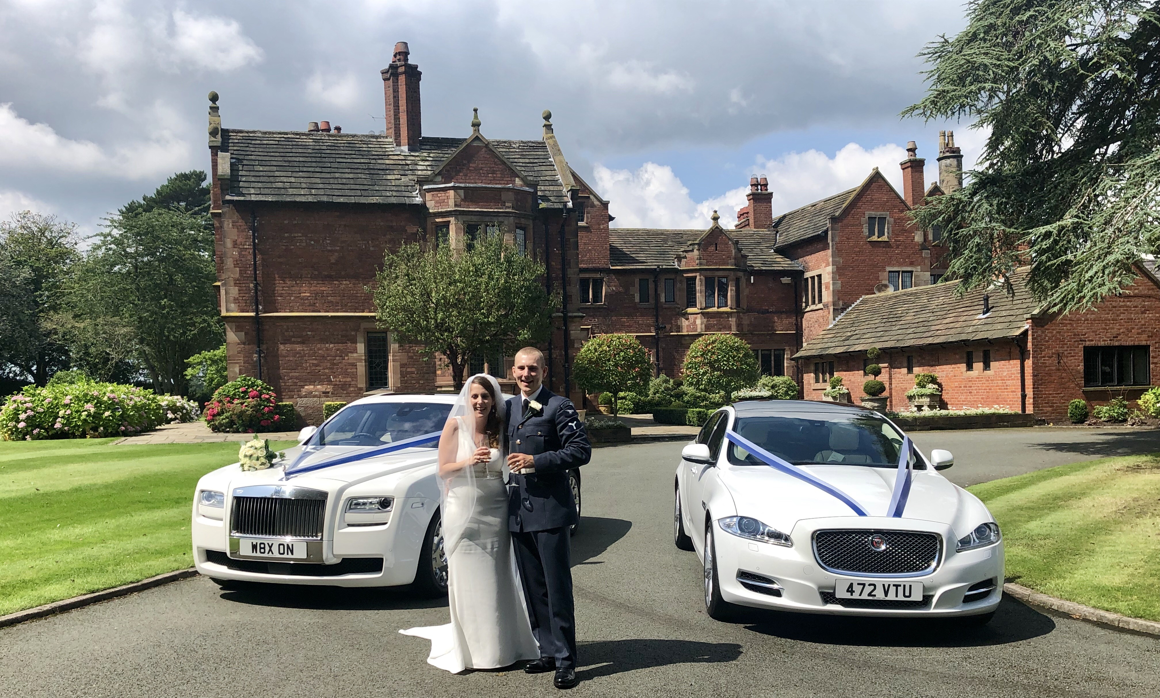 Red Carpet Cars | Luxury Wedding Cars | Couple by Rolls Royce and Jaguar